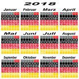 Germany calendar of 2018.