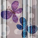 Seamless pastel striped pattern