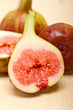 fresh figs on a rustic table