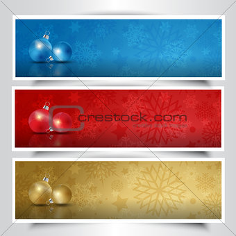 Christmas bauble headers