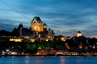 Old Quebec City at dusk