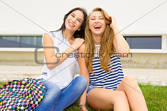 Beautiful and happy students