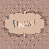 Vintage design card. Vector