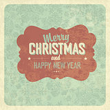 Christmas Greeting Vintage Poster. Vector