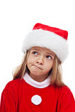 Little girl in santa claus outfit