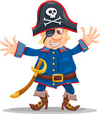 funny pirate cartoon illustration