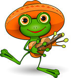 Frog with Guitar