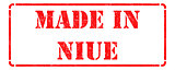 Made in Niue on Red Stamp.