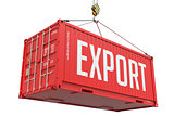 Export - Red Hanging Cargo Container.