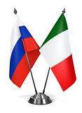 Italy and Russia - Miniature Flags.