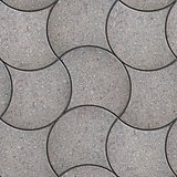 Grey Wavy Pavers. Seamless Texture.