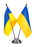 Ukraine - Miniature Flags.