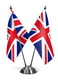 Great Britain - Miniature Flags.
