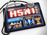 H5N1 on the Display of Medical Tablet.