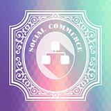 Social Commerce. Pastels Vintage Design Concept.