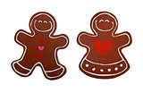 christmas gingerbread decoration figurines