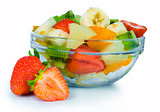 Fruit salad in the bowl