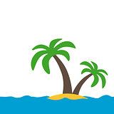 symbol of a tropical island