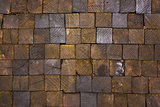 pavement texture of wooden blocks