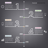 Time line info graphic number design template