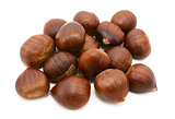 Sweet chestnuts in shells