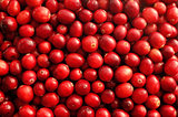 Fresh red cranberries background