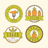 Vegan food badges.