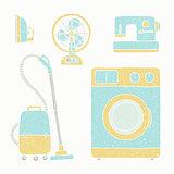 Household appliances set.