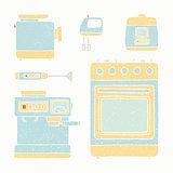 Kitchen appliances set.