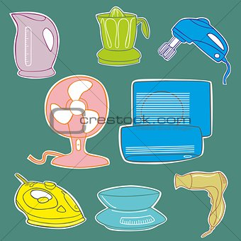 Household aplliance icons