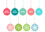 Christmas balls, vector set