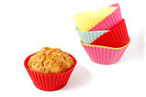 muffin in silicone baking cup 2