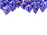 Balloon frame with flag of australia