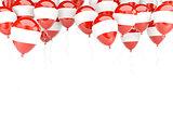 Balloon frame with flag of austria