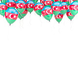 Balloon frame with flag of azerbaijan