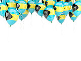 Balloon frame with flag of bahamas