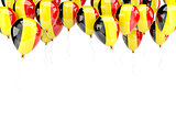 Balloon frame with flag of belgium