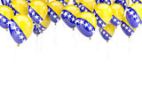 Balloon frame with flag of bosnia and herzegovina
