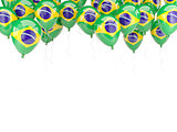 Balloon frame with flag of brazil
