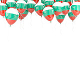 Balloon frame with flag of bulgaria