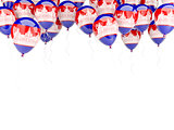 Balloon frame with flag of cambodia