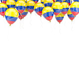 Balloon frame with flag of colombia