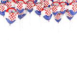 Balloon frame with flag of croatia