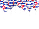 Balloon frame with flag of cuba