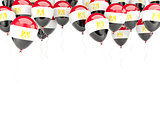 Balloon frame with flag of egypt