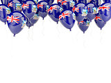 Balloon frame with flag of falkland islands
