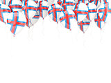 Balloon frame with flag of faroe islands