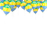 Balloon frame with flag of gabon