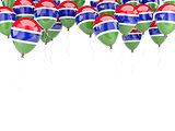 Balloon frame with flag of gambia