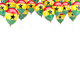 Balloon frame with flag of ghana